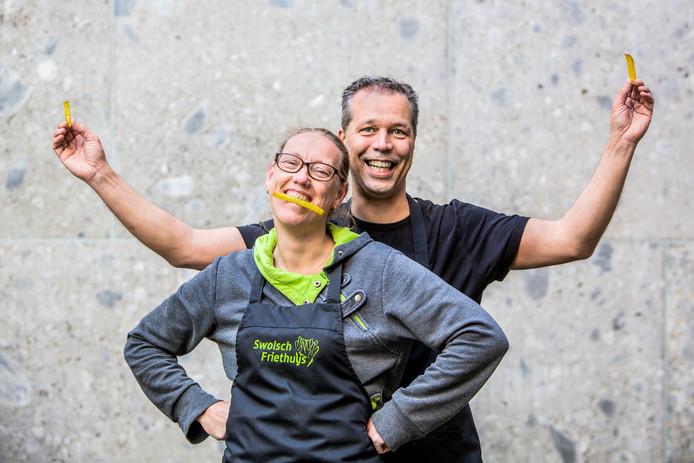 Winnaars van de AD friettest: Marco en Ingebord Poel
