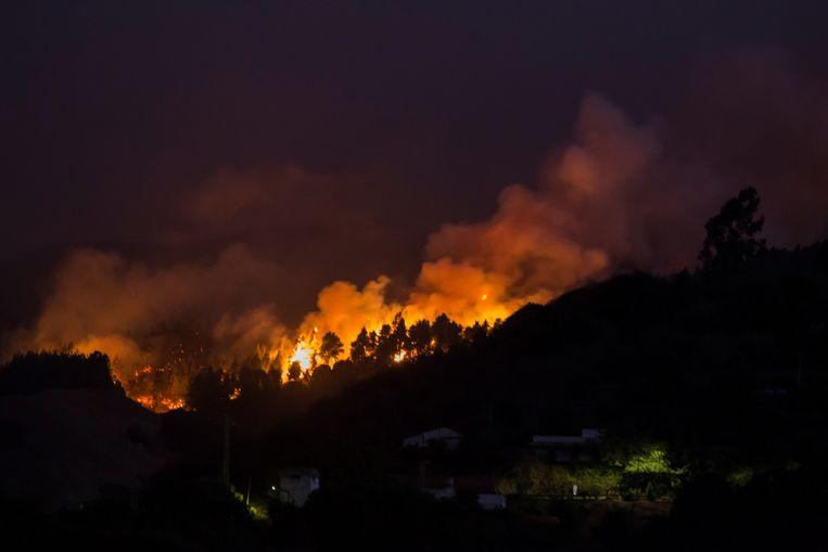 Brand op Gran Canaria.