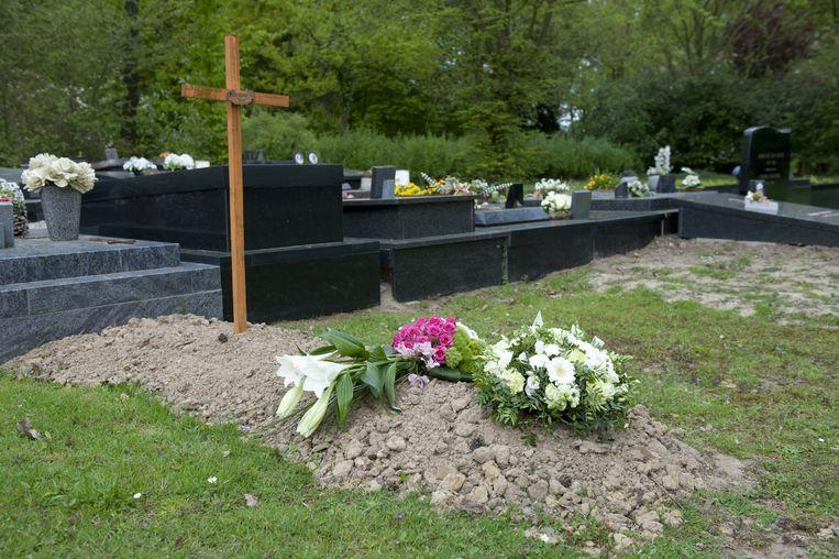 Het anonieme graf van Willy Van Poucke op het kerkhof van Wetteren Ten Ede.