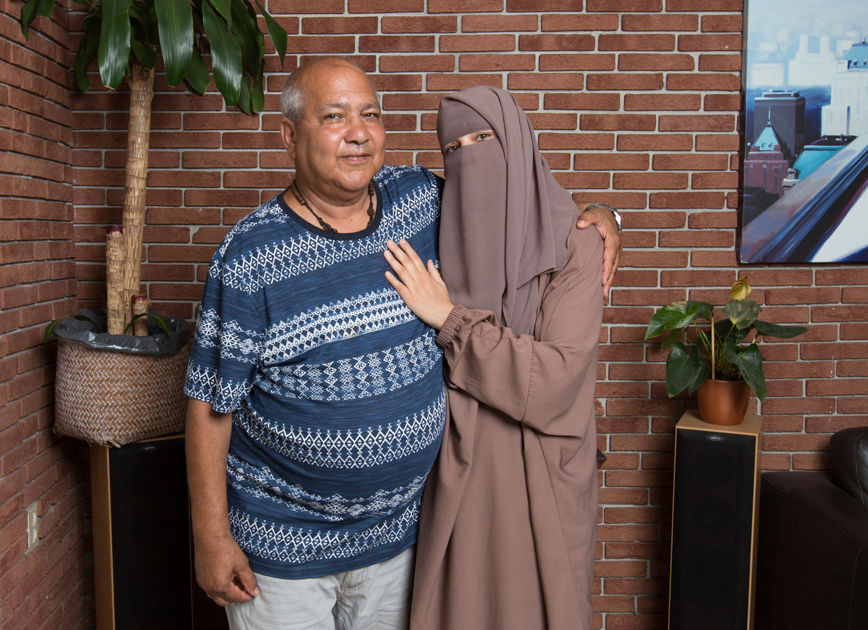 Vader Gamal en dochter Tamara Youssef: 'Onze liefde is als schuurpapier.'
