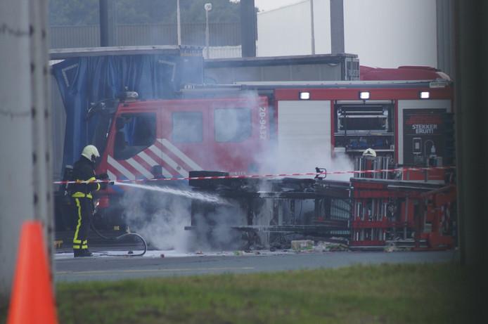 Brand op terrein van Coca Cola in Dongen