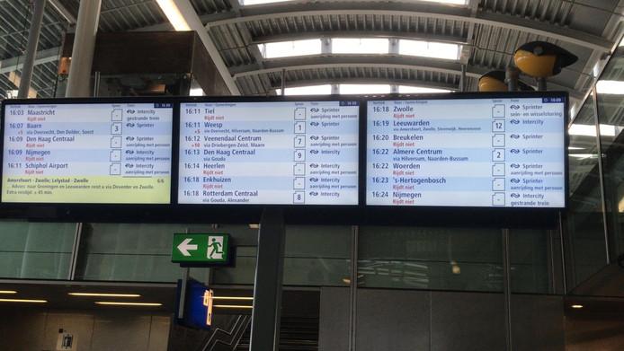 Veel treinen zijn vertraagd.