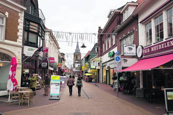 De blik vanaf het Weurden naar het centrum van Winterswijk. Archieffoto Theo Kock