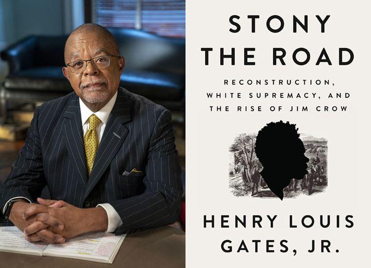 Henry Louis Gates en zijn boek.  Beeld