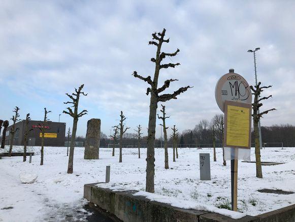 De beslissing over de vergunning hangt uit aan de Pieremansite. Het skatepark komt achter de bomen aansluitend aan de voetbalkantine.