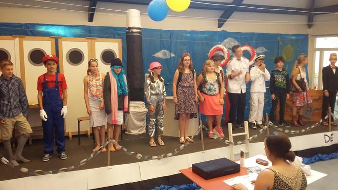 Groep 7-8 van de Rank in Kerkwijk.