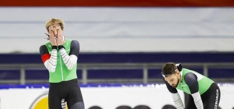 Nuis gediskwalificeerd en Ronald Mulder in herkansing naar derde plek op 500 meter