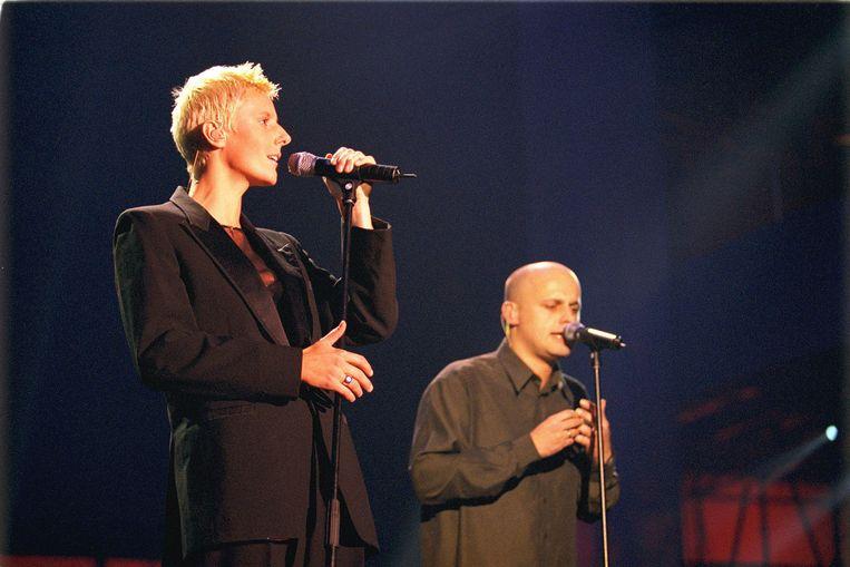 Sarah en Geert Bettens met K's Choice.