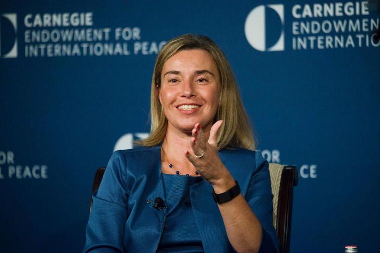De Italiaanse politica Federica Mogherini Beeld afp