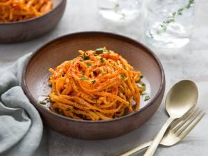 Wat Eten We Vandaag: Pasta met romige paprikasaus