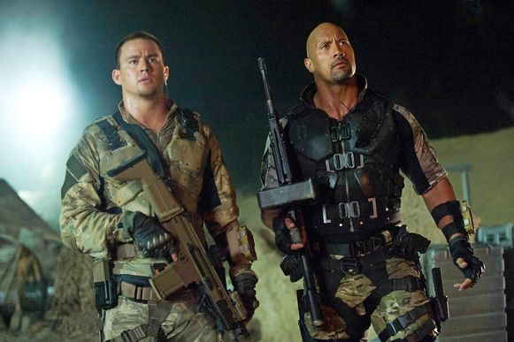 Channing Tatum (links) in 'GI Joe'