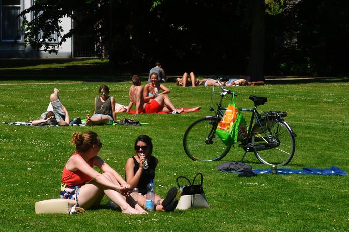 Met mooi zomerweer trekt de stad massaal naar de parken. Zo ook in het Wilhelminapark.