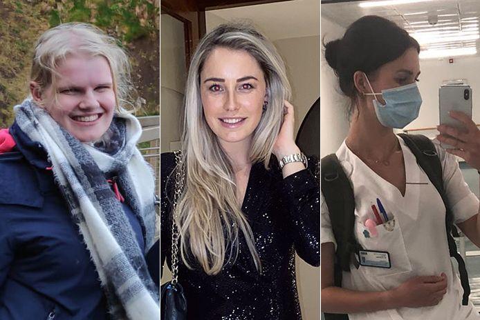 Mbo'ers Angela van Laar, Marsha Spronk en Maxime Ebbelaar liepen stage in het buitenland.