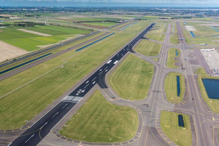 De Zwanenburgbaan van luchthaven Schiphol. Beeld ANP