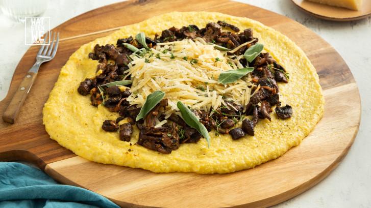 Wat Eten We Vandaag: Polenta met paddenstoelen en Parmezaan