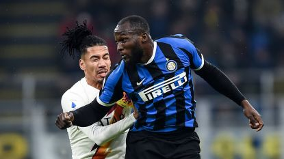 Teleurstellend Inter bijt tanden stuk op AS Roma: Smalling neutraliseert Lukaku