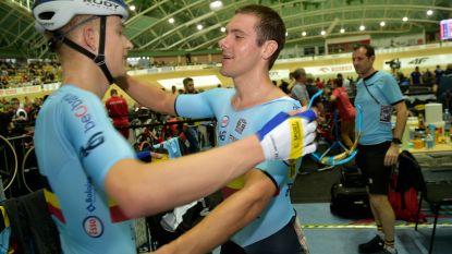 Kenny De Ketele en Robbe Ghys pakken brons in ploegkoers op WK baanwielrennen in Polen