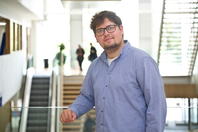 Mitch Wijnen (25) begon vorig jaar aan de Pabo in Nijmegen.