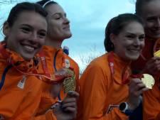 Julia van Velthoven deelt op EK cross 'echt' mee in gouden zege Nederlands team
