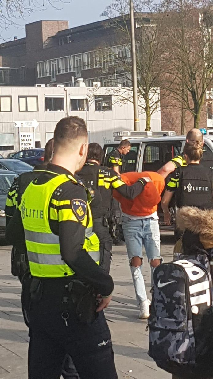De student is door de politie aangehouden in het Technovium.