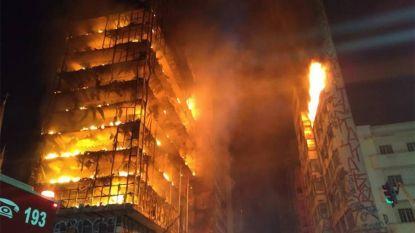 Appartementsblok stort in na verwoestende brand in Brazilië: vrees voor vele doden