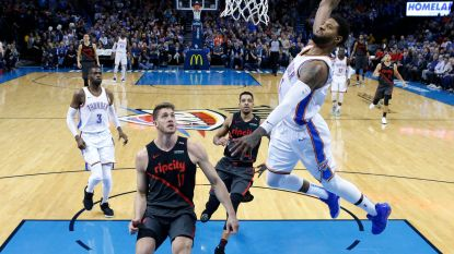 VIDEO. Paul George en Russell Westbrook schitteren in NBA en leiden Oklahoma voorbij Portland