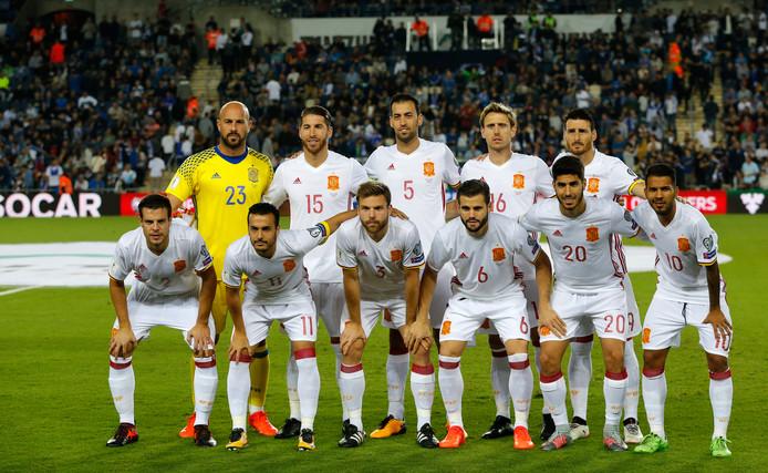 Het nationale elftal van Spanje.
