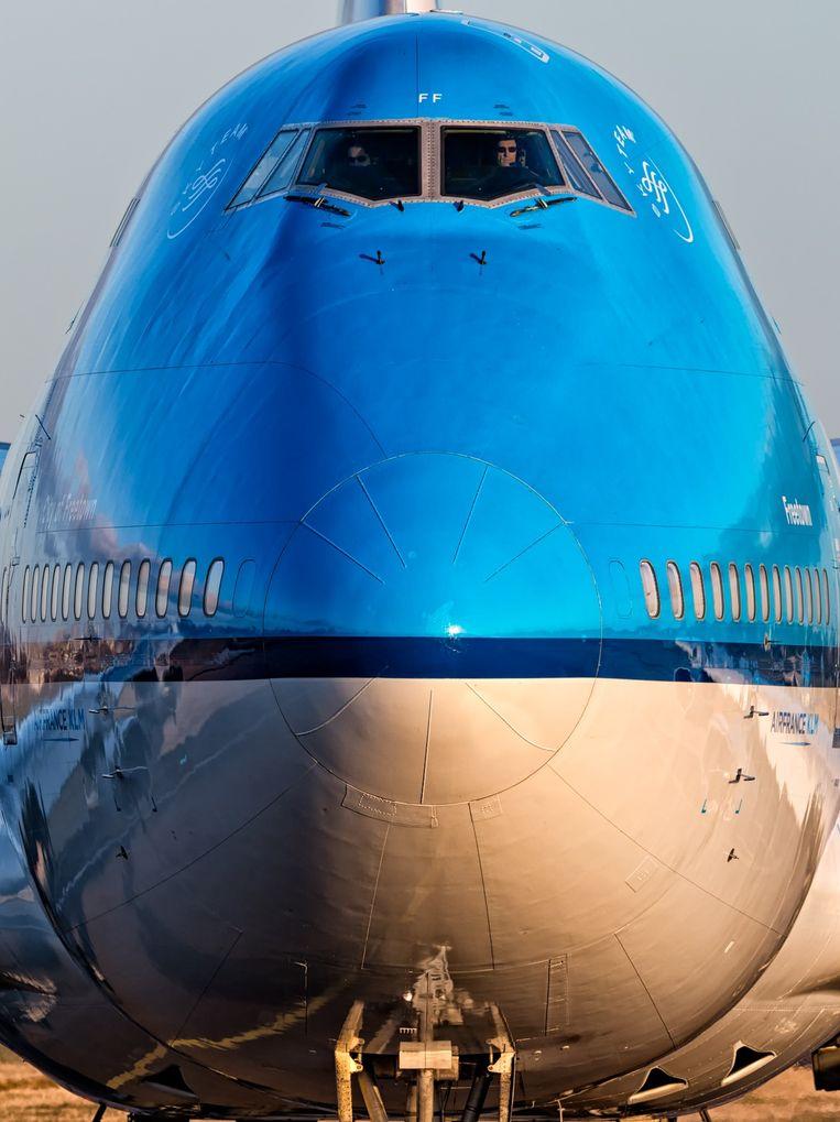 Een Boeing 747-400 van Air France-KLM. Beeld Dennis Janssen