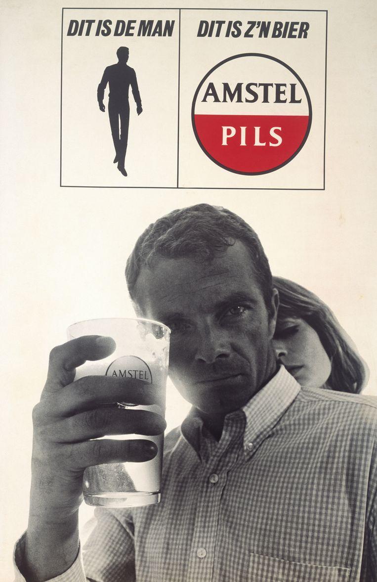 Reclame van Amstel: 'Dit is de man, dit is zijn bier', 1967-1970.  Beeld Gregor Frenkel Frank