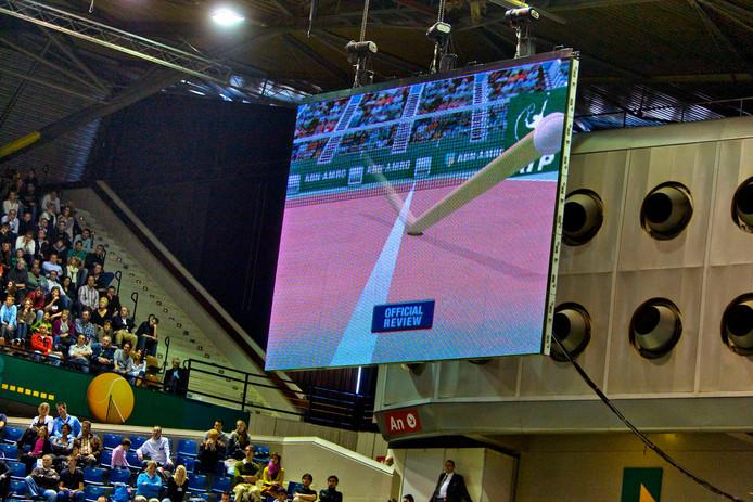 Hawk-Eye bij het ATP-toernooi van Rotterdam.