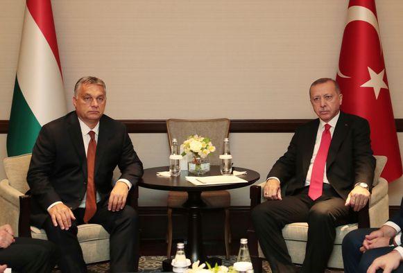 Orban en Erdogan tijdens een ontmoeting op 14 oktober.
