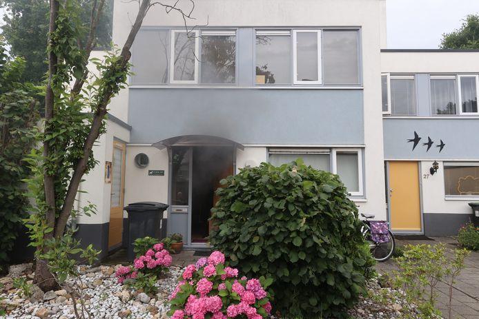 Middelgrote woningbrand aan de Schatzenburg in Eindhoven.