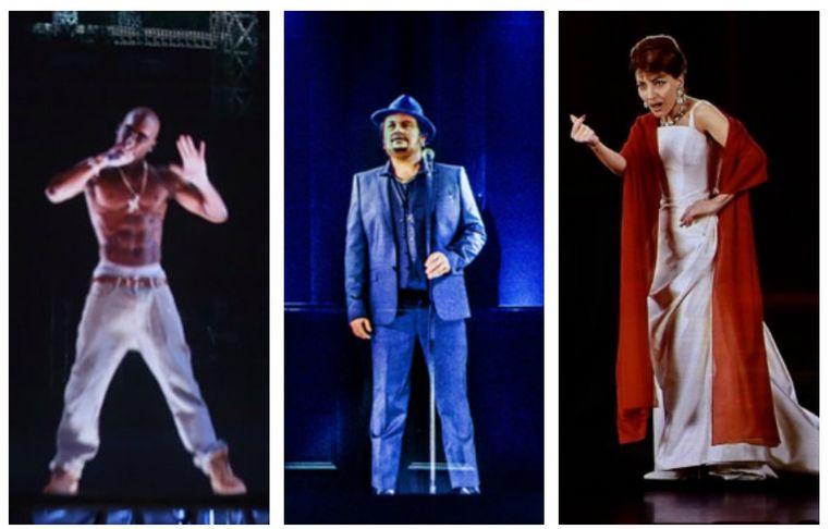 Tupac, André Hazes en Maria Callas als hologrammen.