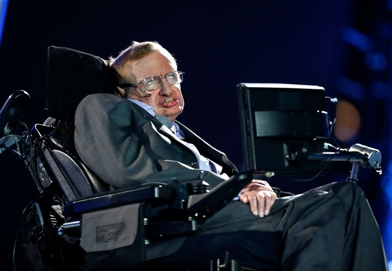 Stephen Hawking in Londen in 2012.