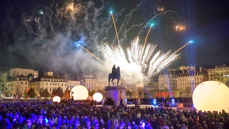 Het Lichtfestival in Lyon, hier in de editie van 2013, trekt elk jaar miljoenen bezoekers.