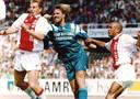 John de Wolf tijdens Ajax - Feyenoord (5-2) in 1993.
