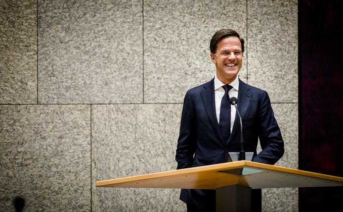 VVD-leider Mark Rutte tijdens het Tweede Kamerdebat waarin hij officieel tot formateur werd benoemd.