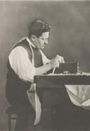 Joseph Asscher bewerkt de Cullinandiamant.