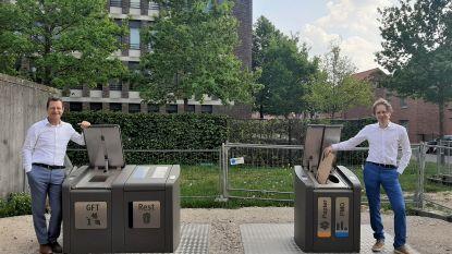 Gedaan met afval stockeren op appartement dankzij nieuwe ondergrondse sorteerstraat aan Sint-Agathaplein in Wilsele-Putkapel