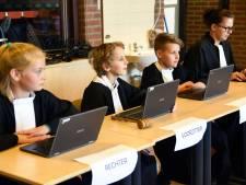 Voor een dagje zélf de rechter: klas Sint Jansteen sluit project af