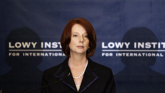 De Australische premier Julia Gillard