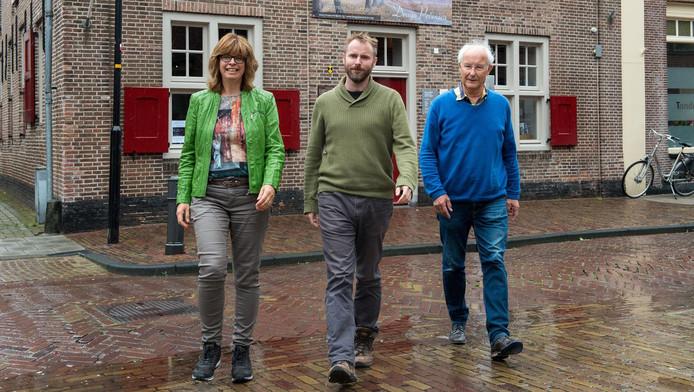 Saskia van den Berg, Wilco Kruijswijk en Bram Berends namen het initiatief voor het Greetje Arendspad.