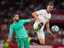 Real Madrid maakt La Liga razend spannend met zege op Sevilla van De Jong