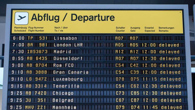 Vanwege een staking is er geen vliegverkeer mogelijk tussen Nederland en Berlijn Beeld anp