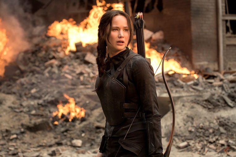 Jennifer Lawrence als Katniss Everdeen in 'The Hunger Games'.