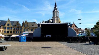 Grote Markt bijna klaar voor Marktrock Poperinge