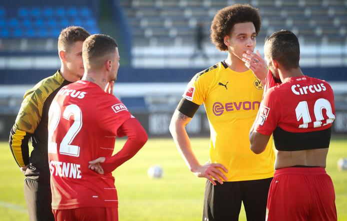 Maxime Lestienne, Thorgan Hazard, Axel Witsel et Mehdi Carcela
