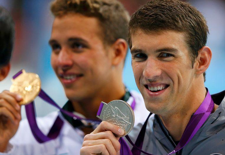 Phelps moest vier jaar geleden vrede nemen met zilver - vannacht revanche?