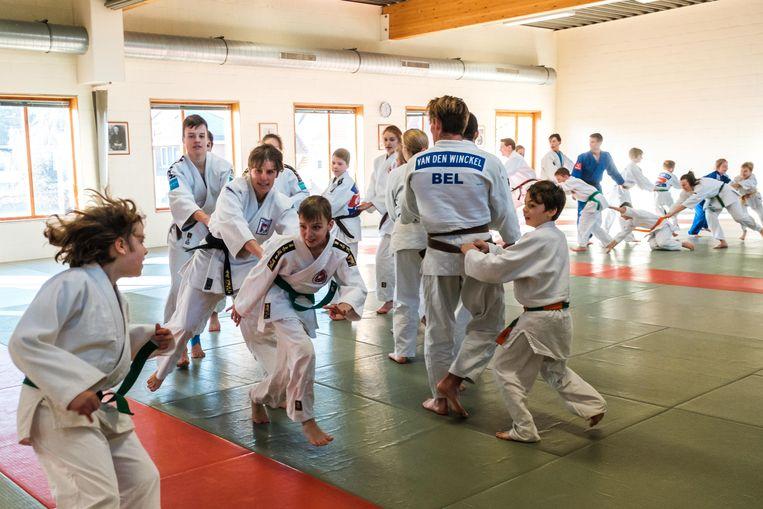 Op de judodag daagden 120 judoka's op.