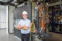 CEO Alexander Willemse in één van de technische ruimtes van het gebouw.